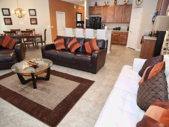 Living Area - BV4P1021MB 4 BR Super Lux Pool Home with Modern Amenities - Kissimmee - rentals