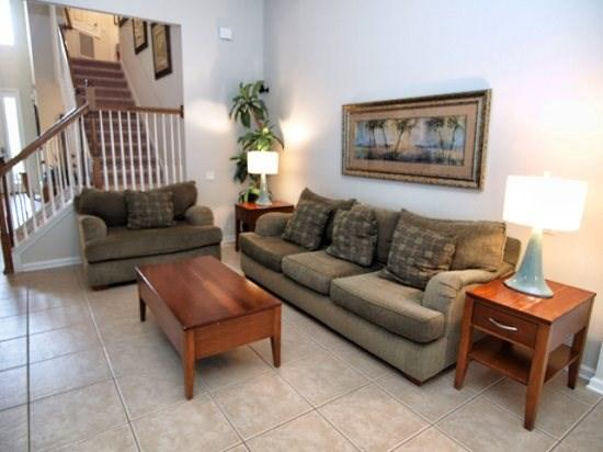 Living Area - WH5P2616BS 5 BR Pool Home with Internet and Beautiful Lake View - Kissimmee - rentals