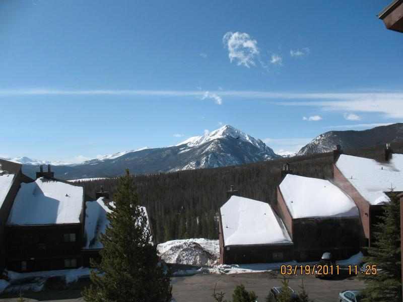 Exterior view of SNOWSCAPE condo complex, taken from our deck - Affordable 3 Bdrm. Condo Wildernest- Silverthorne - Silverthorne - rentals