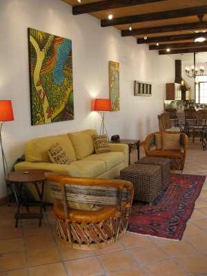 11 ft. clay/wood beam ceilings with handcrafted icapalli chairs - Elegant Colonial New Home - GREAT Fall Special! - San Miguel de Allende - rentals