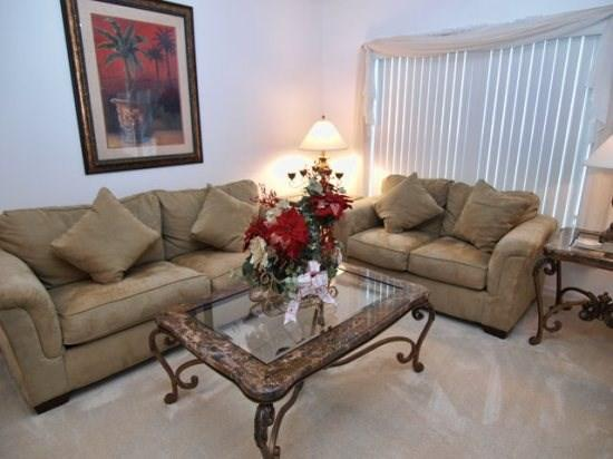 Living Area - CM5P1215WWW 5 BR Fabulous Pool Home Close to Disney - Kissimmee - rentals