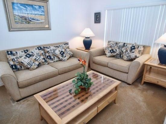 Living Area - CM5P4760CLD 5 BR Beautiful Villa with Games Room and Private Pool - Kissimmee - rentals