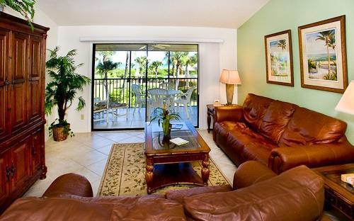LIVING ROOM - Sandpiper Beach Condominium #302   Sanibel Florida - Sanibel Island - rentals