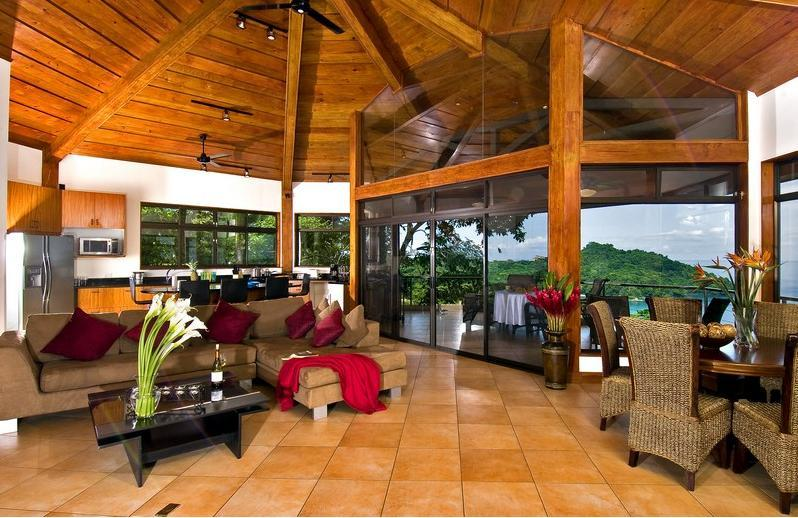 Upper Suite Great Room - Casa Panorama - Ocean Sunset Views - Private Beach - Manuel Antonio - rentals