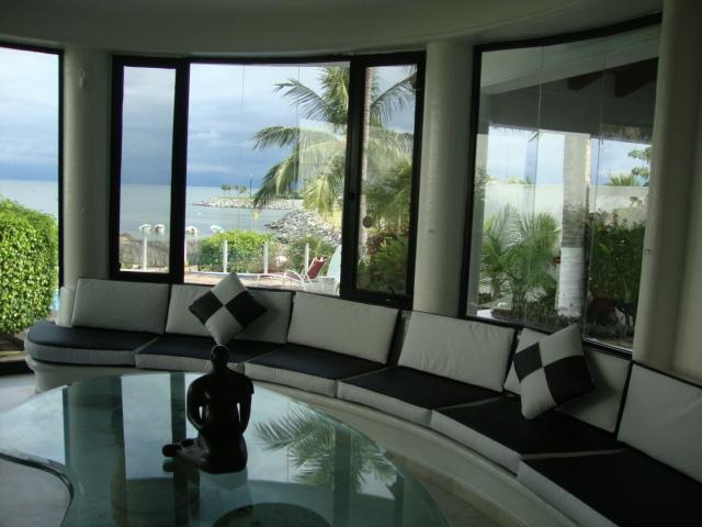 Living Room Overlooking Pool/Beach - Beachfront Private Villa Reasonably Priced - Puerto Vallarta - rentals