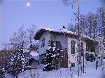 Winter Exterior Under the Moon - Stunning Mountain Home - Great Layout for Families (1088) - Vail - rentals