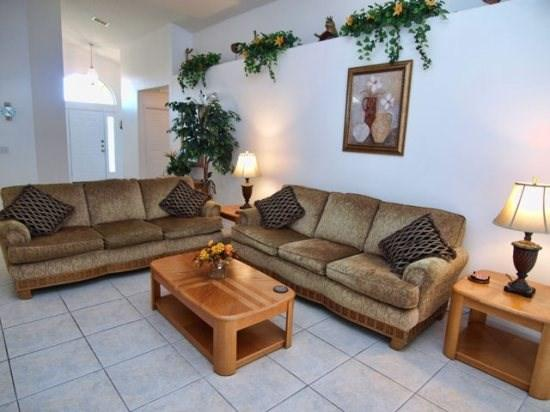 Living Area - BWC4P127WL 4 BR Pool Villa with Fenced Yard And Private Pool - Davenport - rentals
