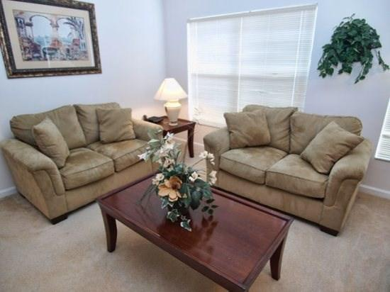 Living Area - MP4P15517MD 4 BR Pool Home in Gated Community - Clermont - rentals