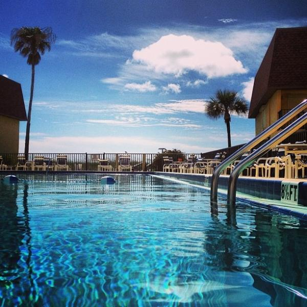 Large heated pool outside door - A ALL INCLUSIVE COCOA BEACH CONDO BY PIER 2 Bed/2 - Cocoa Beach - rentals