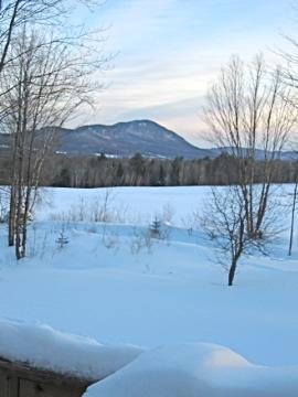 Winter scene from Deck - Ski Three Mountains - Hyde Park - rentals