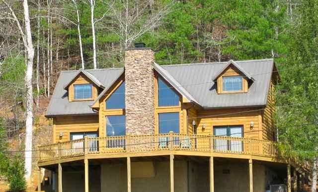 Front View of our Mountain Home - Stay 4 or more Nites in Jan or Feb get Free Dinner - Townsend - rentals