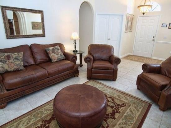 Living Area - GR6P315GRD 6 Bedroom South-Facing Pool Home Near Disney - Davenport - rentals