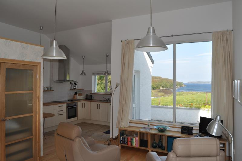 in studio looking towards picture window - Quality Studio Apartment with stunning loch views - Isle of Skye - rentals