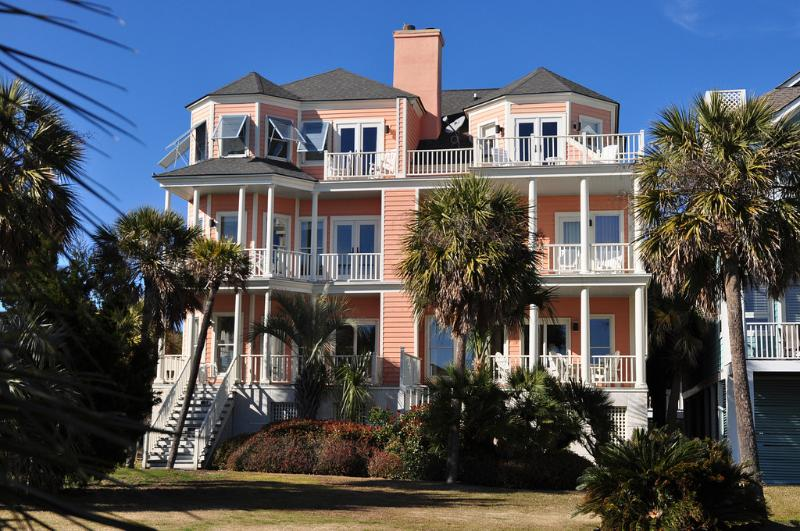 Rear Exterior - Lovely Wild Dunes Oceanfront 4 Bedroom, 4.5 Bath!! - Isle of Palms - rentals