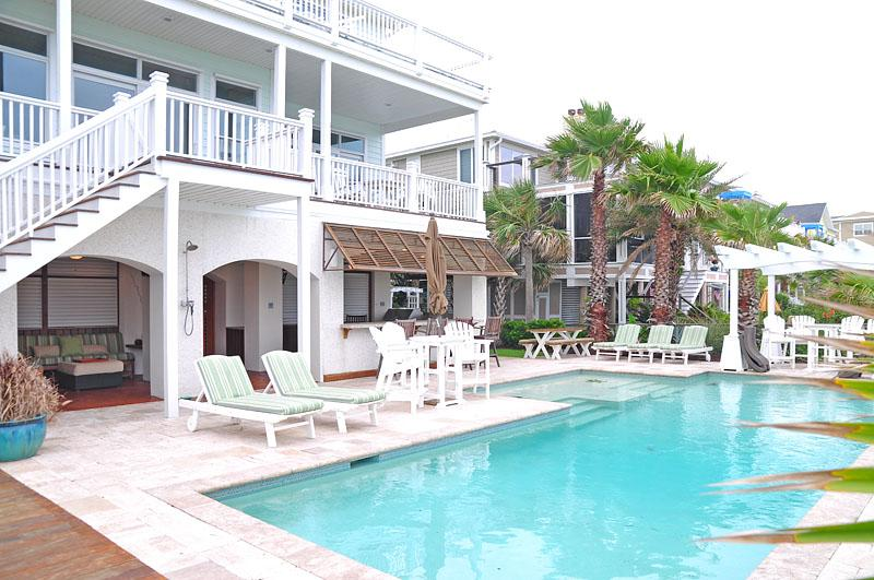 Pool & Summer Kitchen - Best of the Best! 7 Bedroom, Oceanfront w/Pool!! - Isle of Palms - rentals
