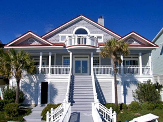 Rear of House w/Covered Porch - Spectacular Ocean Views! 4 Bd, 3 Ba, New Remodel! - Isle of Palms - rentals