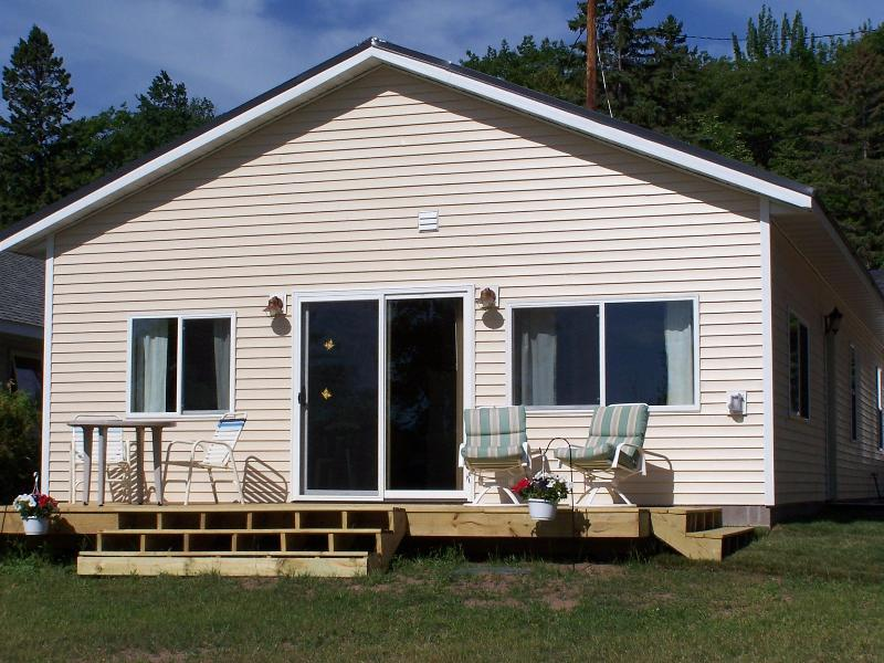 View of cabin from trail - 4 bedroom cabin on Portage Lake in Houghton,MI - Chassell - rentals