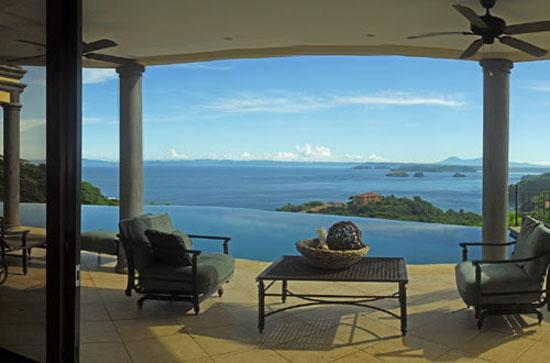 View of Gulf of Papagayo from Terrace - 5 Star Villa-Sleeps 6 to 20-All Inclusive Options - Playa Ocotal - rentals
