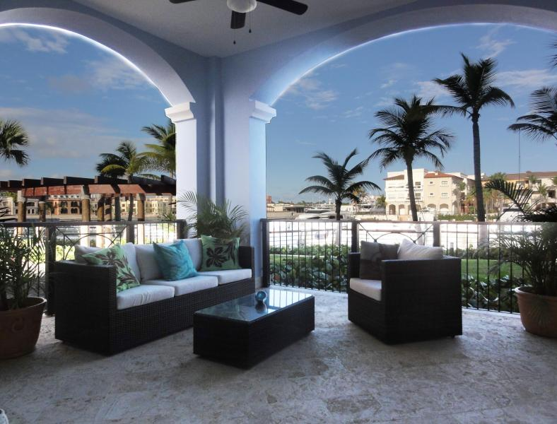 Huge beautiful terrace - Magnificent Cap Cana water front condo on marina - Punta Cana - rentals
