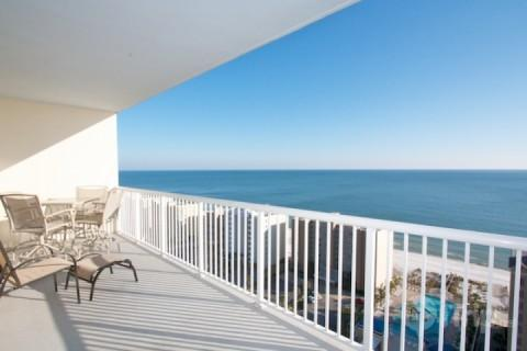 View from the balcony to the east - Crystal Tower 1707 - Gulf Shores - rentals