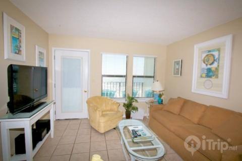 Living area with sofa sleeper - Island Sunrise 664 - Gulf Shores - rentals