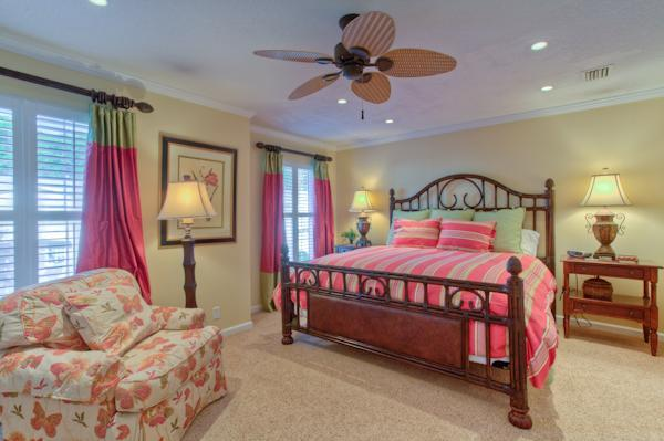 Spacious master bedroom with double closets with built in drawers - Immaculate Condo - Walk to Beach, Bike to Village! - Saint Simons Island - rentals