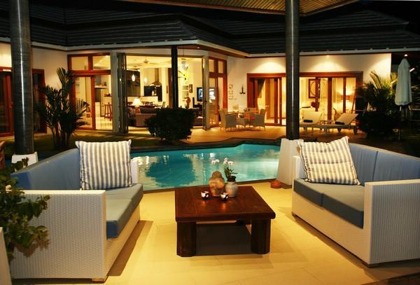 Drinks time in the Sala as the sun sets over Samui - EXQUISITE PRIVATE HOME WITH THAT 'WOW' FACTOR - Choeng Mon - rentals