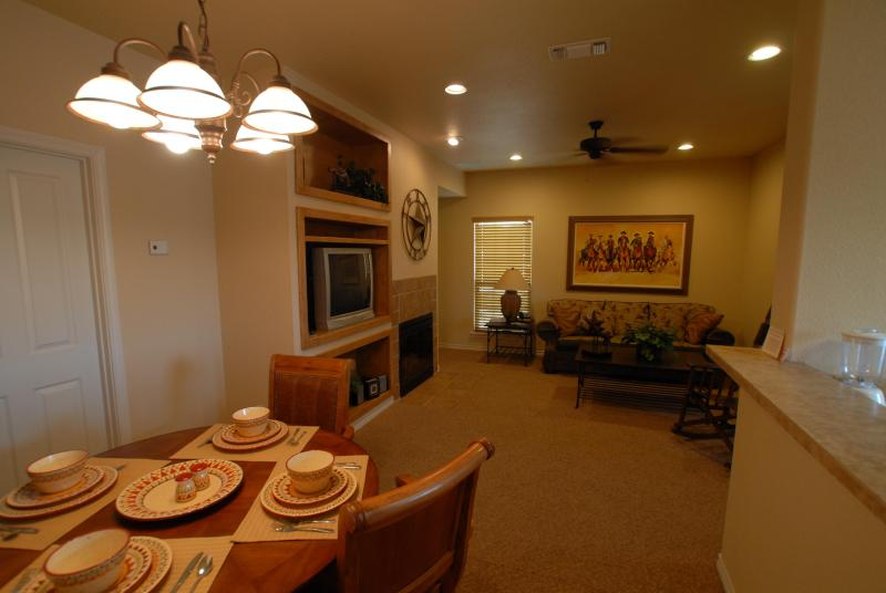 Living / Dining Area - The Villas at the Flying L Guest Ranch - Bandera - rentals