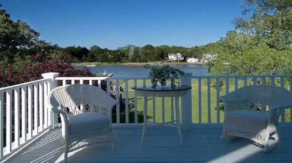 Porch from Master & 2nd Large room - 7 Bedroom West Hampton Beach Manor on the Water with Private Boat Dock - Westhampton Beach - rentals