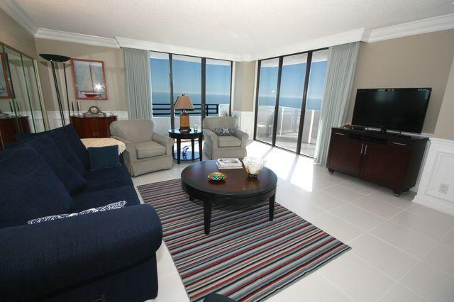 Living Room - Luxurious just remodeled Large Oceanfront Condo - Daytona Beach - rentals