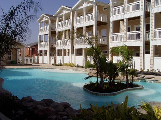 Relaxing Lagoon Style Pool - Town House Vacation Rental, N. Padre Island, Texas - Corpus Christi - rentals