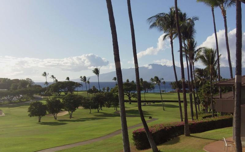 View down to Tee Box and the Island of Molokia - WOW-New 2bd MAUI ELDORADO Ocean & Golf View Corner - Kaanapali - rentals