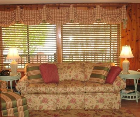 Garden View Suite - sofa bed & picture window (lake in the background). - Lady of the Lakes Suites on Keuka Lake - Branchport - rentals