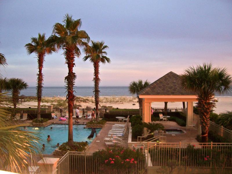 Pool View From Balcony - Beach Club Gulf-Front Corner Condo w Endless Views - Gulf Shores - rentals
