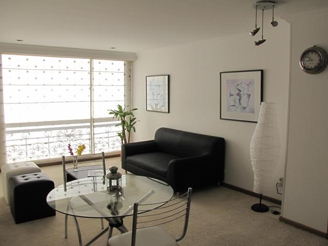 Living Room & Dining Room - Lovely 2 BR Furnished Apartment in Bogota Colombia - Bogota - rentals