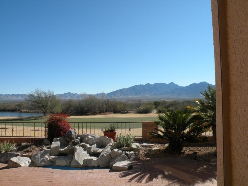 View from patio - Arizona View Home on 6th Fairway- Mountains & Lake - Green Valley - rentals