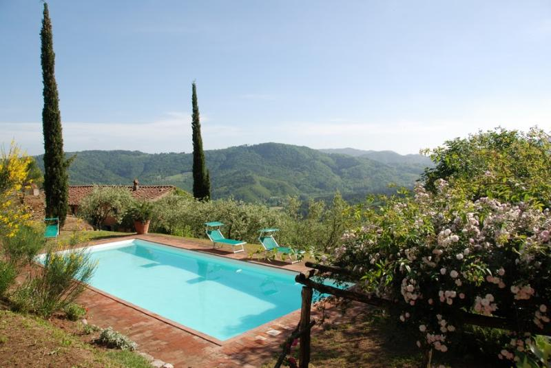 Tuscan Farmhouse with Views and Private Pool - Casa Felicita - Image 1 - San Martino in Freddana - rentals
