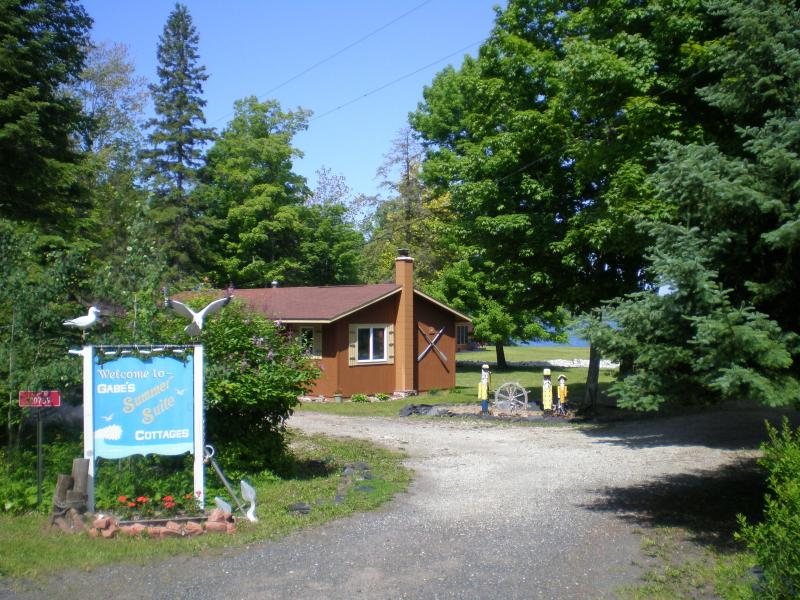 Entrance to cottages - On Huron Bay in pure Michigan's beautiful U.P. - Skanee - rentals