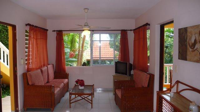living room - TROPICAL LIVING by the beach 1 bedroom - Puerto Plata - rentals
