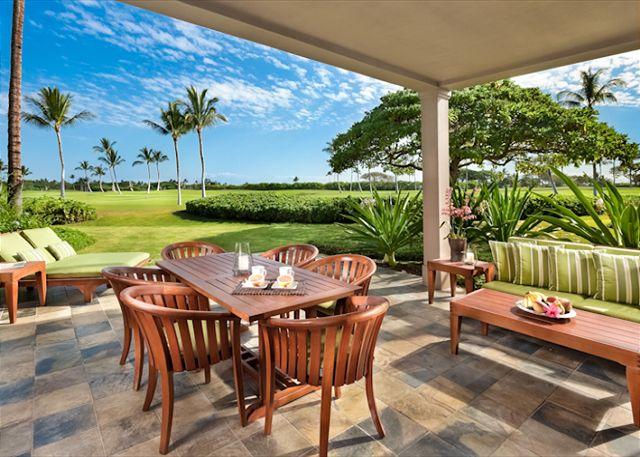 Lanai - 15th Fairway of Hualalai Resort- Luxury 3 bdrm/3.5 bath villa - Kailua-Kona - rentals