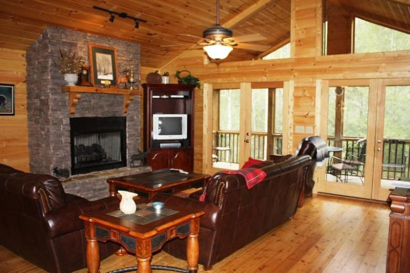 Main Living Area - Cabin on Water with Hot Tub = The Good Life! - Ellijay - rentals