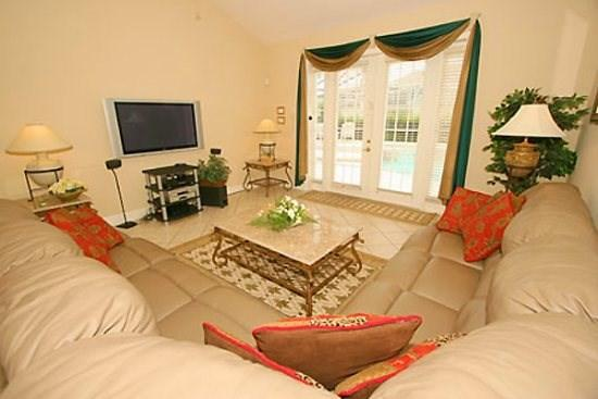 Family Room - FG7PFG5 Large 7 Bedroom Pool Home Very Close to Disney - Four Corners - rentals