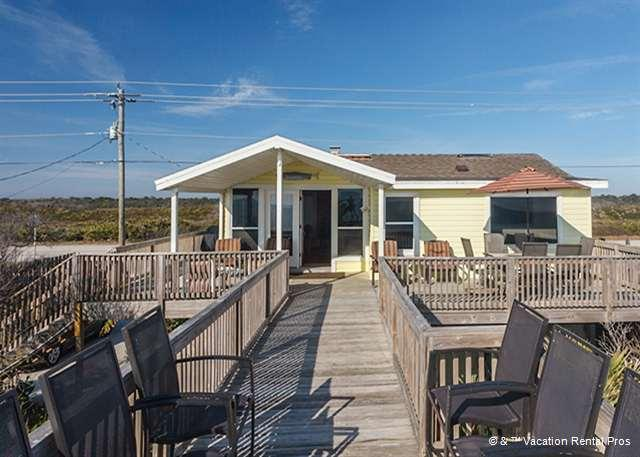 "The wraparound deck leads right down to the beach! - Turtle's Nest House, Beach Home, Sweeping Views, ""3D"" HDTV - Ponte Vedra Beach - rentals"