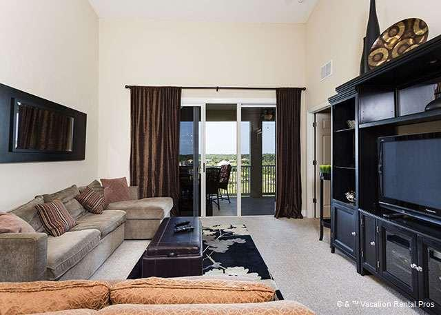 Watch movies in our comfy, chic living room - 1063 Cinnamon Beach Penthouse 6th Floor, Elevator, 2 pools, HDTV - Palm Coast - rentals