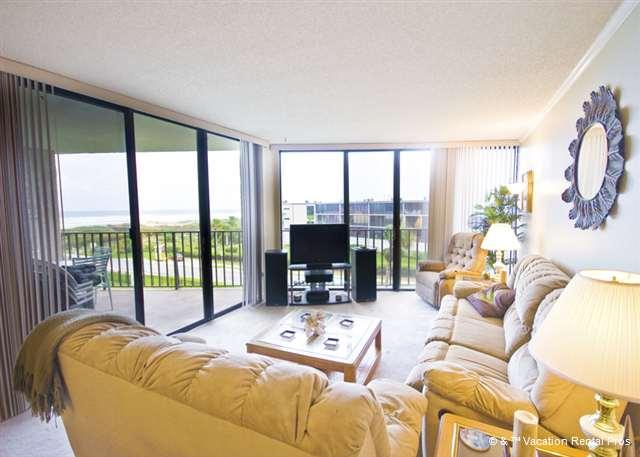 The floor to ceiling mirrors give you plenty of beach views - Anastasia 404 Condo, Tennis, Pool - Saint Augustine - rentals