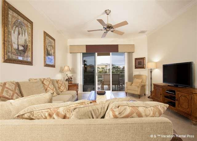 Light, airy, and well appointed, our living room is a pleasure. - 222 Cinnamon Beach, Golf Course Views, Palm Coast Florida - Palm Coast - rentals