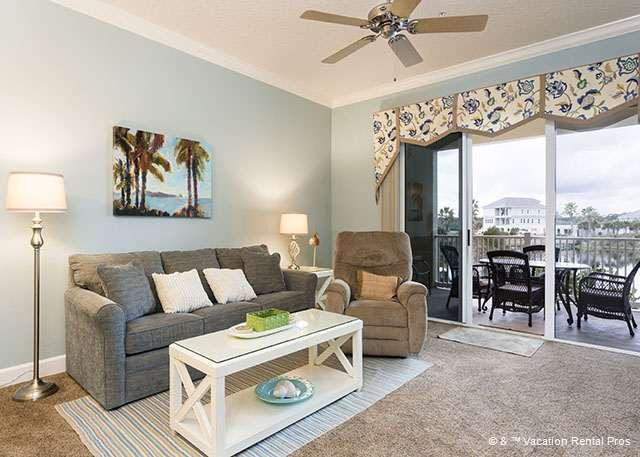 You'll love chilling out on the comfy furniture - 923 Cinnamon Beach, 2nd Floor, 2 Pools, Spa, Wifi, New HDTV - Palm Coast - rentals