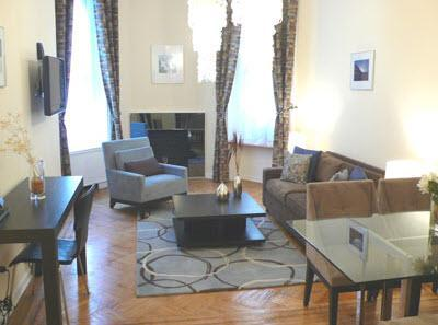 Living Room - 1L-Luxury 1 BR Vacation Aprtment, Fully furnished. - New York City - rentals