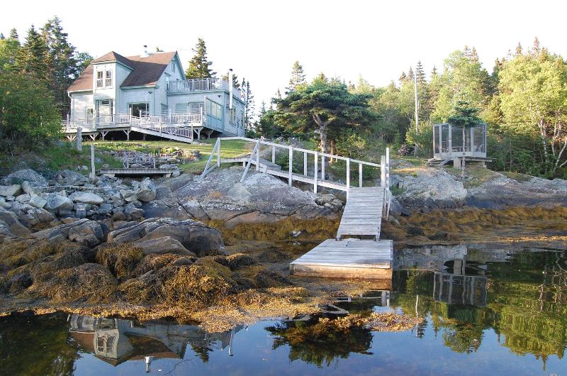 House from cove - Stunning Secluded Oceanfront Home near Lunenburg! - Lunenburg - rentals