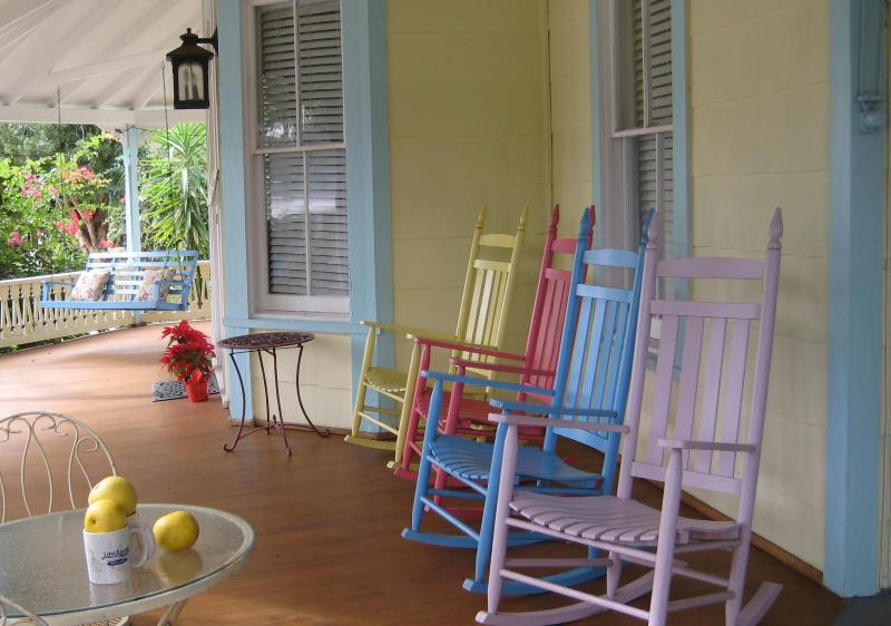 Our porch - Tranquil  Beauty Private 2 min to beach-Sleeps 6-8 - New Smyrna Beach - rentals